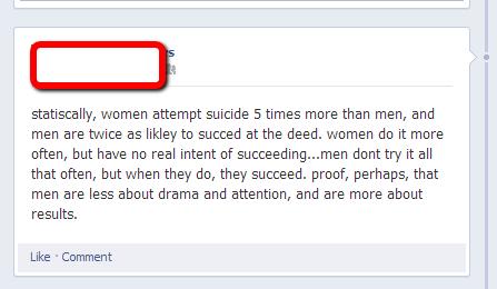 Suicide: Not Appropriate Joke Material