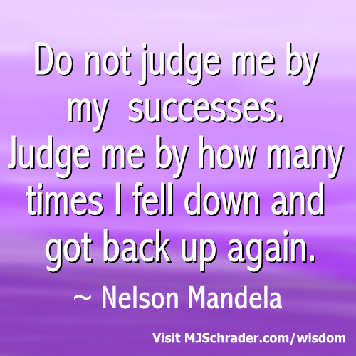 Don't Judge Me by My Successes